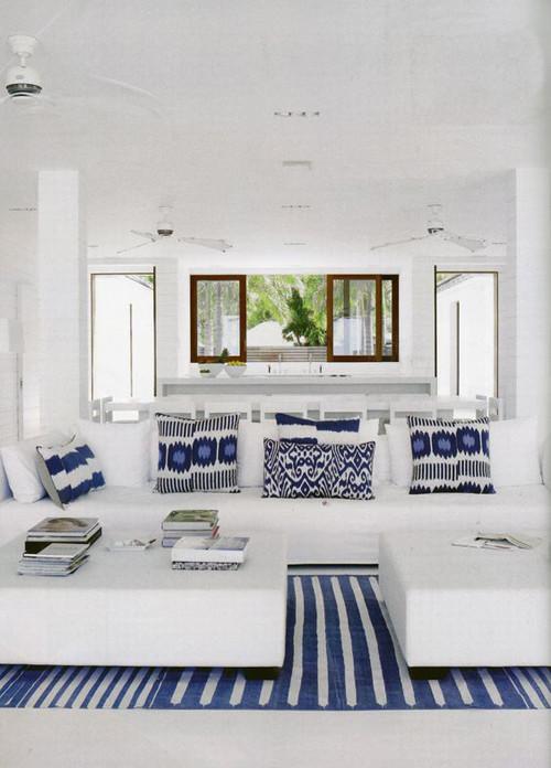 decoración del hogar con cojines ikat
