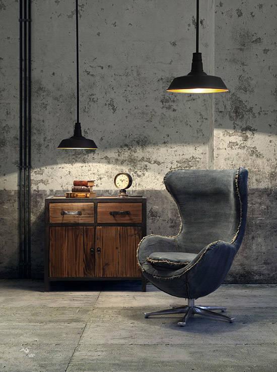 La Egg Chair en la decoración industrial