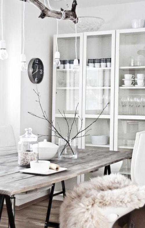 Ideas para decorar con troncos y ramas secas