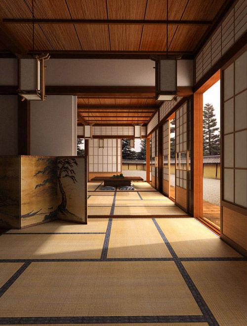 Antigua casa tradicional de Japón