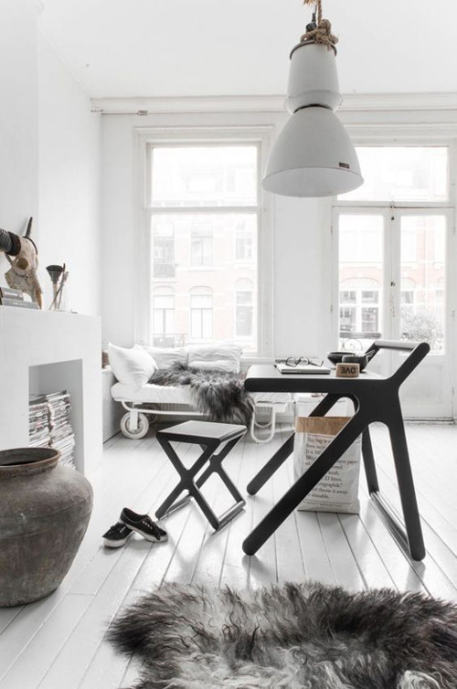 materiales naturales en los salones de inspiración nórdica