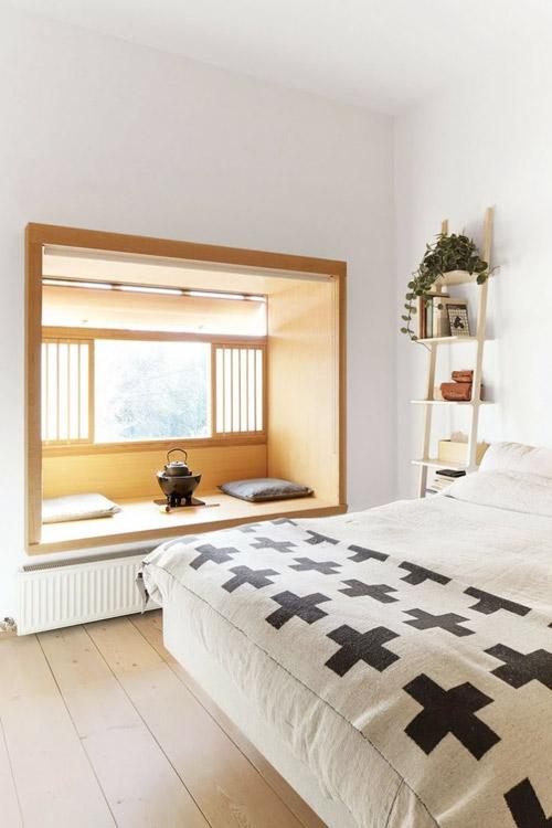 habitación de estilo zen