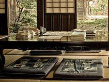 Cojines bajos en las casas japonesas