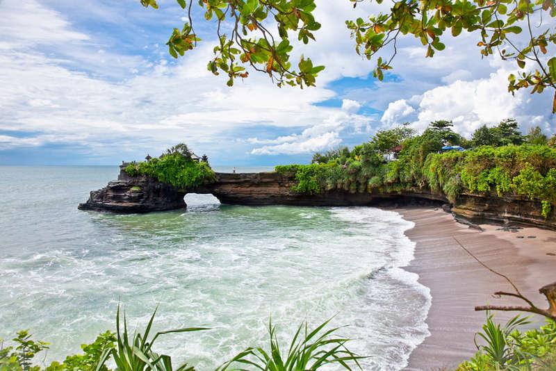 La playa de Batu Balong en Bali