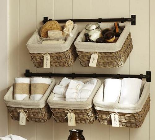 Decorar con cestas de mimbre ideas de decoraci n for Que poner en los banos de una boda