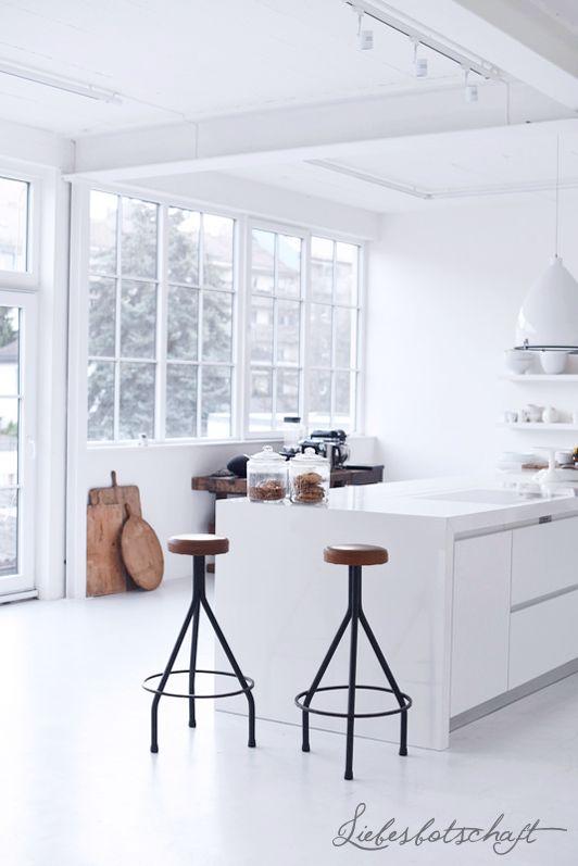 color blanco en la cocina de estilo nórdico