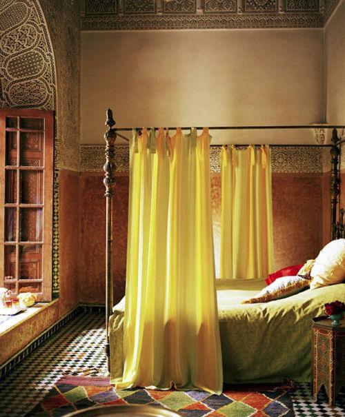 Decoración árabe en un los hogares marroquíes