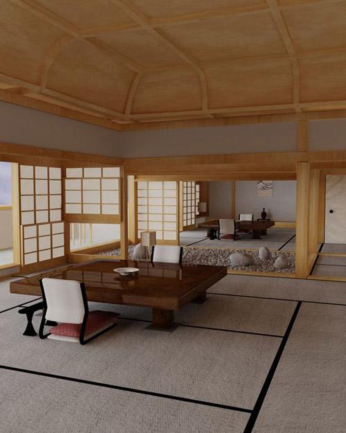 interior de una casa japonesa tradicional