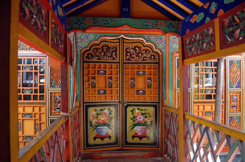 Interior del Palacio de Potala en Lhasa