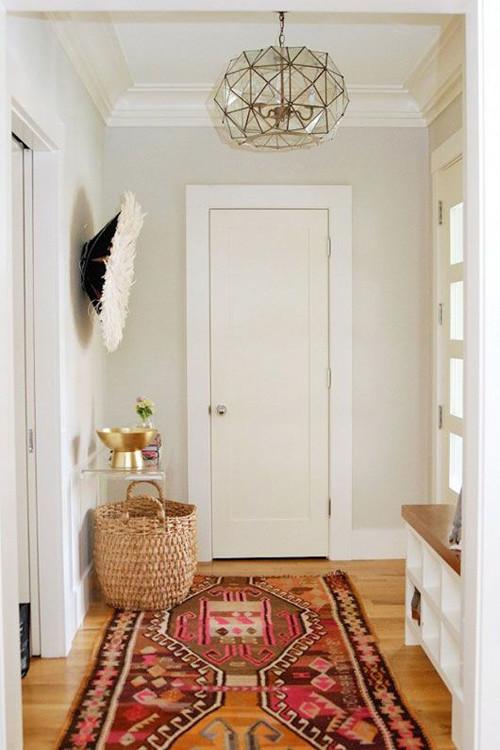 Decoración de pasillos con Kilims de lana