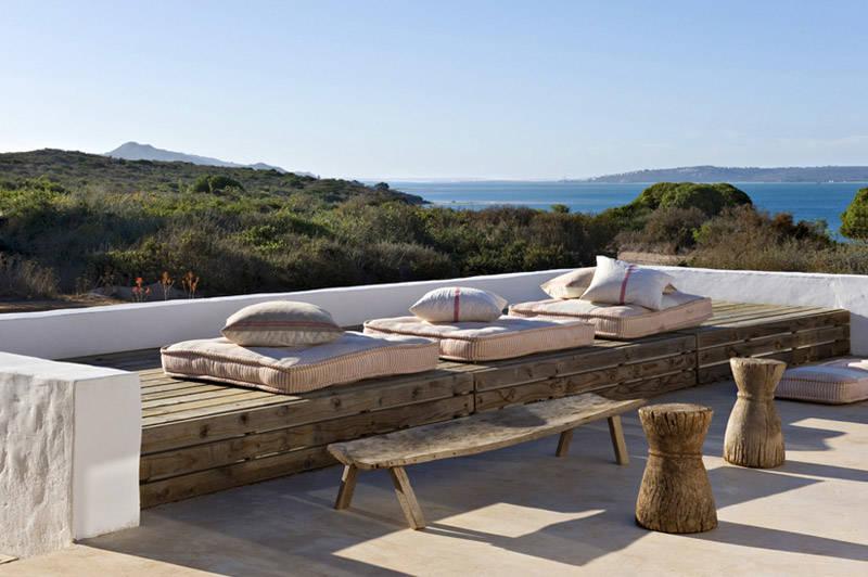 Palets para los muebles de la terraza