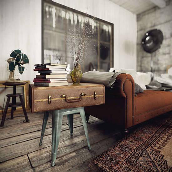 Objetos vintage para los espacios industriales