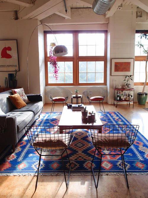 El kilim en la decoración de salones