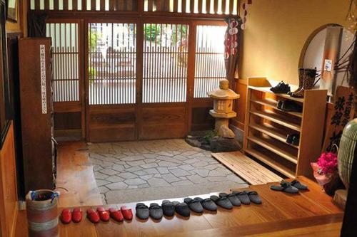 Entradad de una casa japonesa