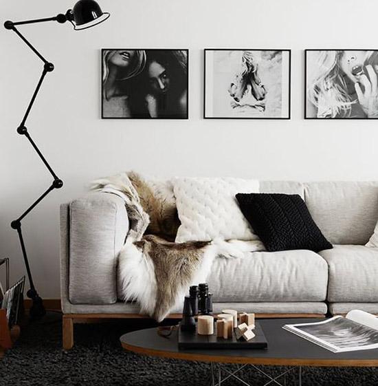 Fotografías en la decoración nórdica