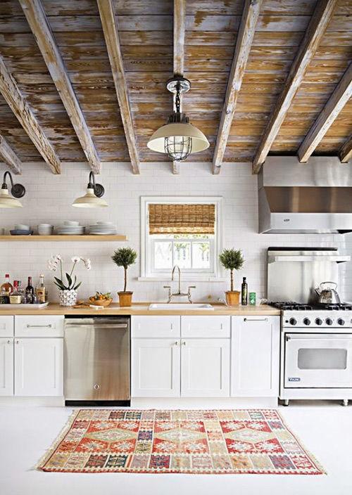 El kilim en la decoración de cocinas
