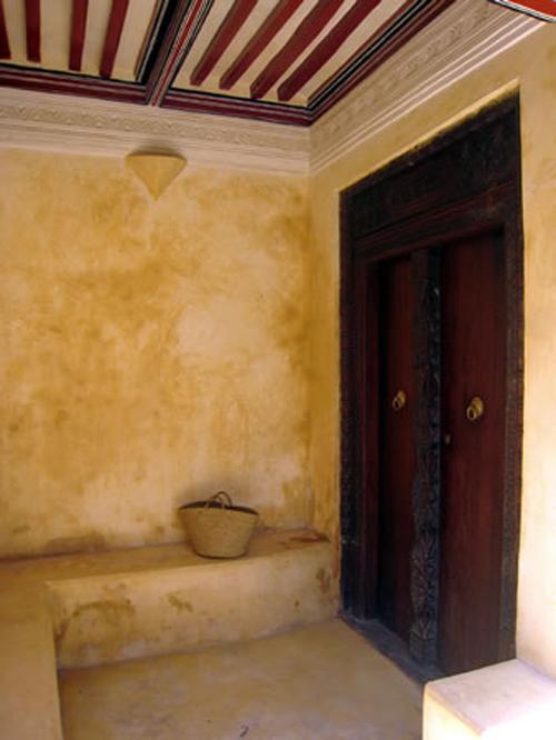 Porche en una casa de Lamu