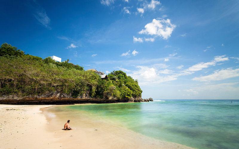 La playa de Padang Padang en Bali