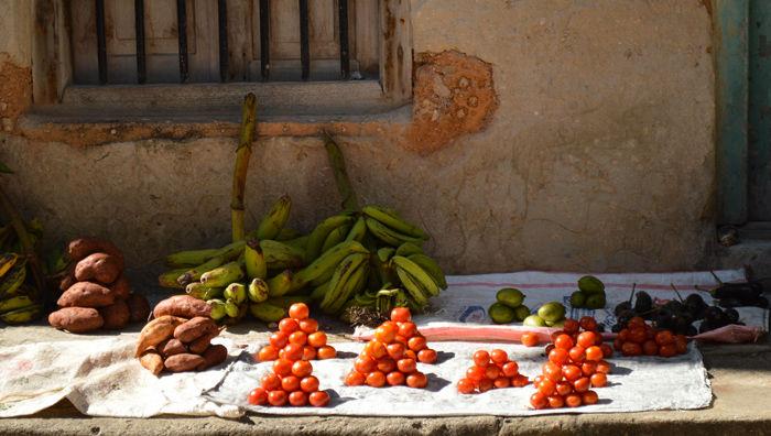 puesto callejero en Zanzíbar