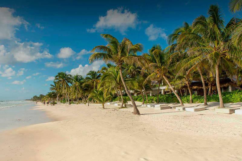 Playa de Tulúm en el estado de Quintana Roo