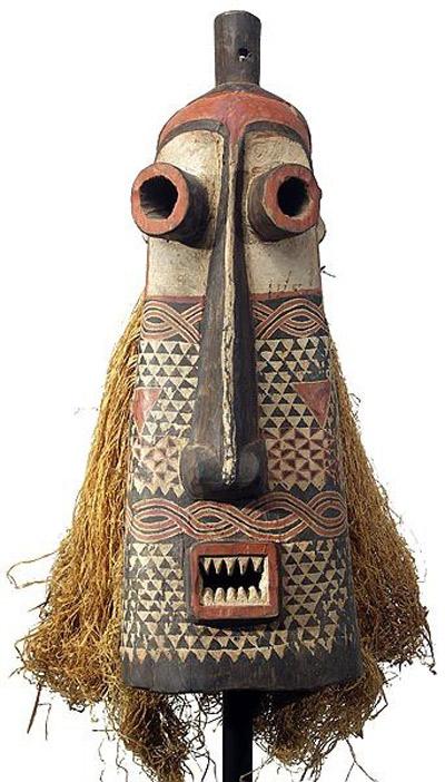 antigua máscara tribal africana