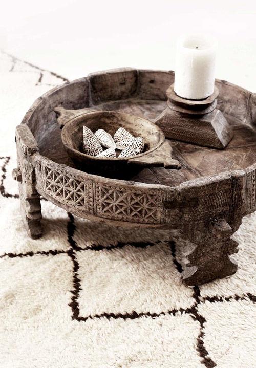 Mesa baja de centro de estilo indio