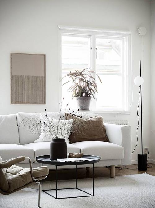 salón en una casa escandinava