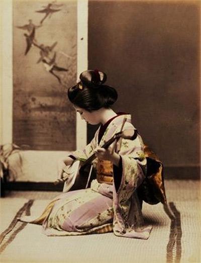 Interior de una casa japonesa
