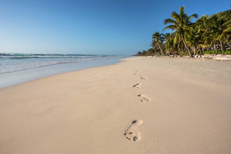 Playa de Tulúm en la Riviera Maya