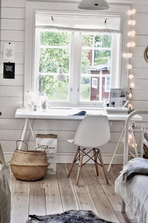 El blanco y la madera en la decoración nórdica