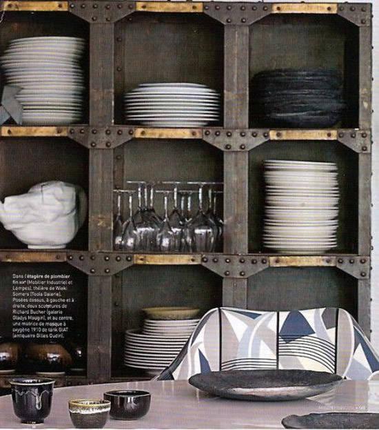 Mueble industrial en una cocina