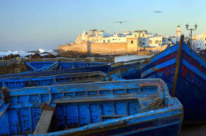 El puerto de Essaouira, ciudad costera de Marruecos