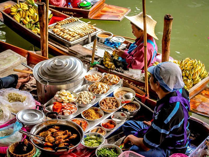 Mercados flotantes de Asia