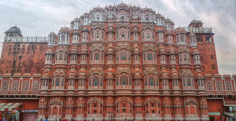 Hawa Mahal, en la ciudad de Jaipur