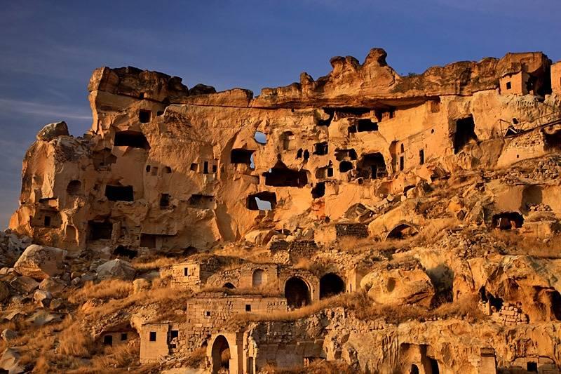 Ciudad antigua en Capadocia, turquía