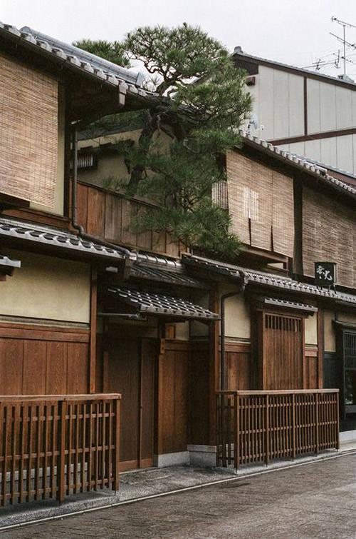 Casa tradicional de madera de Japón
