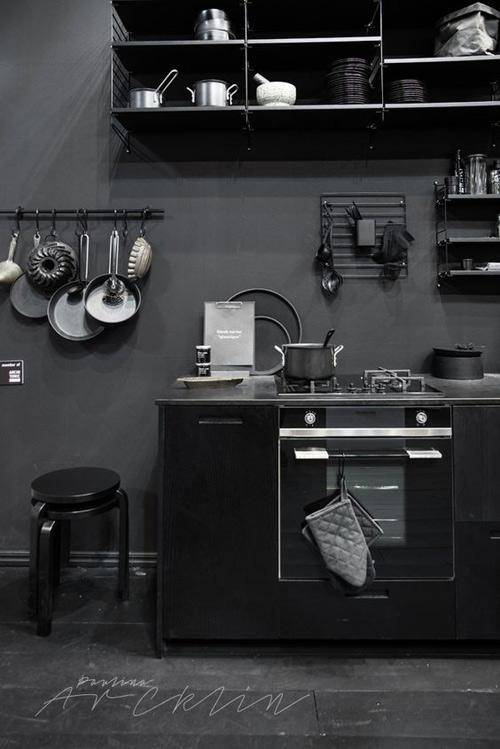Cocinas decoradas en color negro