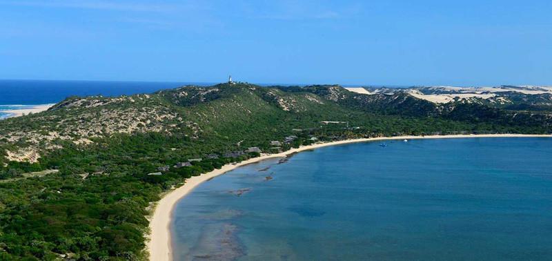 playas en la isla de Bazaruto de Mozambique