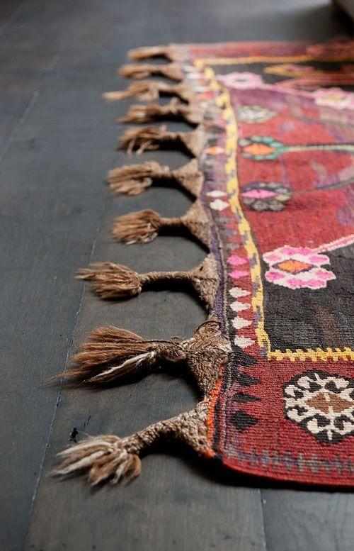 Alfombra kilim de lana de colores