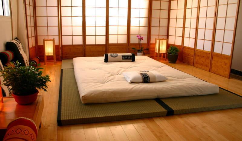 Un dormitorio japonés