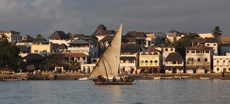 La ciudad antigüa de Lamu en Kenia