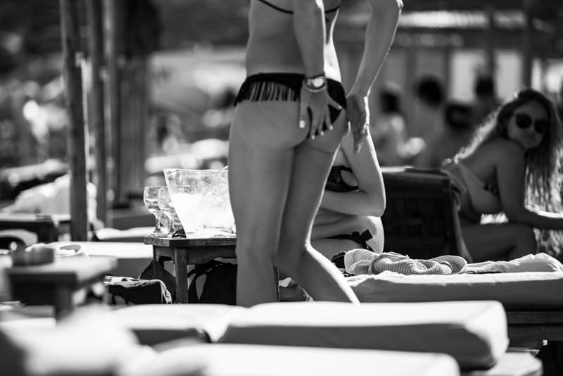 Fiesta en la playas de Mykonos