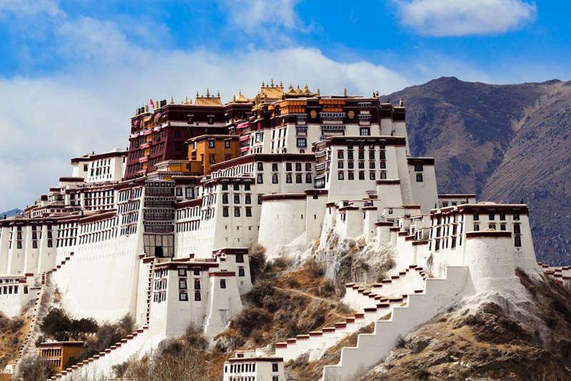 El palacio de Potala en Lhasa