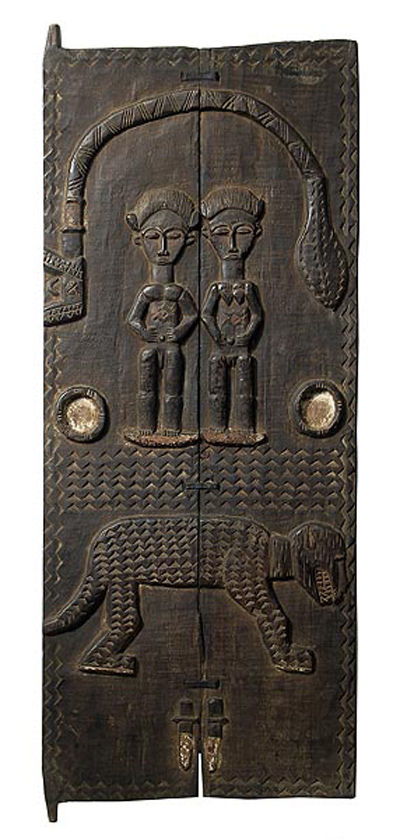 Puerta decorada de la tribu baule