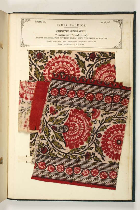 Muestrario de telas indias antiguas