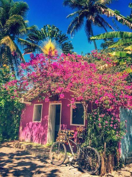 Casa de colores en Trancoso, Brasil