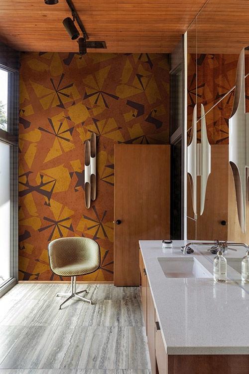 Papeles pintados para el baño con mucho estilo
