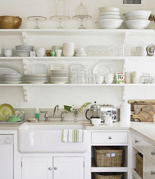Estantes de cocina abiertos lo ltimo en decoraci n - Estanterias para cocina ...