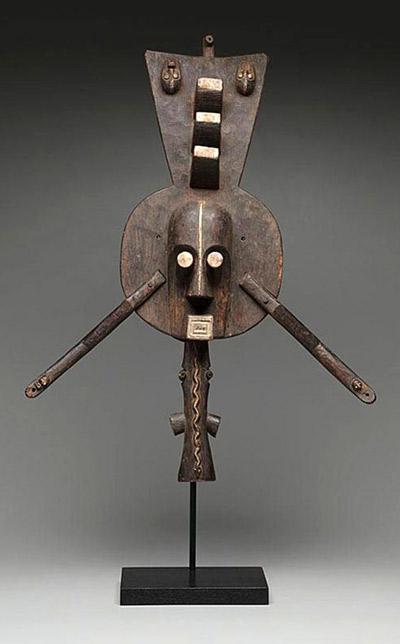 Máscara de madera africana