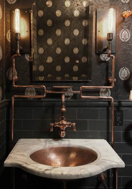 Diseño industrial en un lavabo